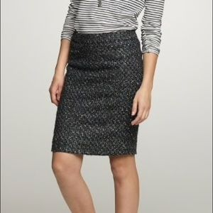 J.Crew Moss Tweed Pencil Skirt, 4